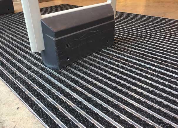 tapis entrée aluminium