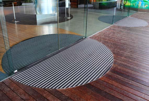 tapis aluminium rond